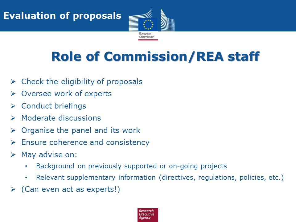 Role of Commission/REA staff