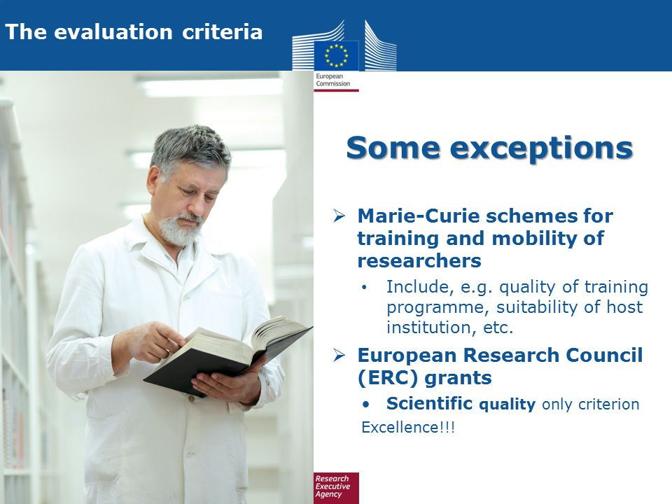 The evaluation criteria