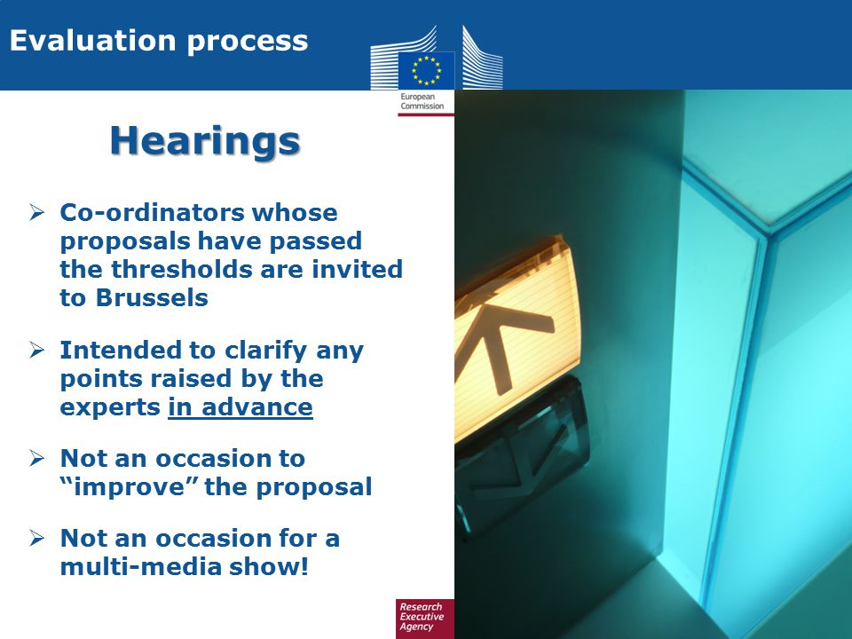 Hearings Evaluation process