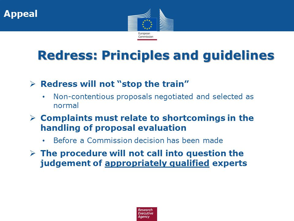 Redress: Principles and guidelines