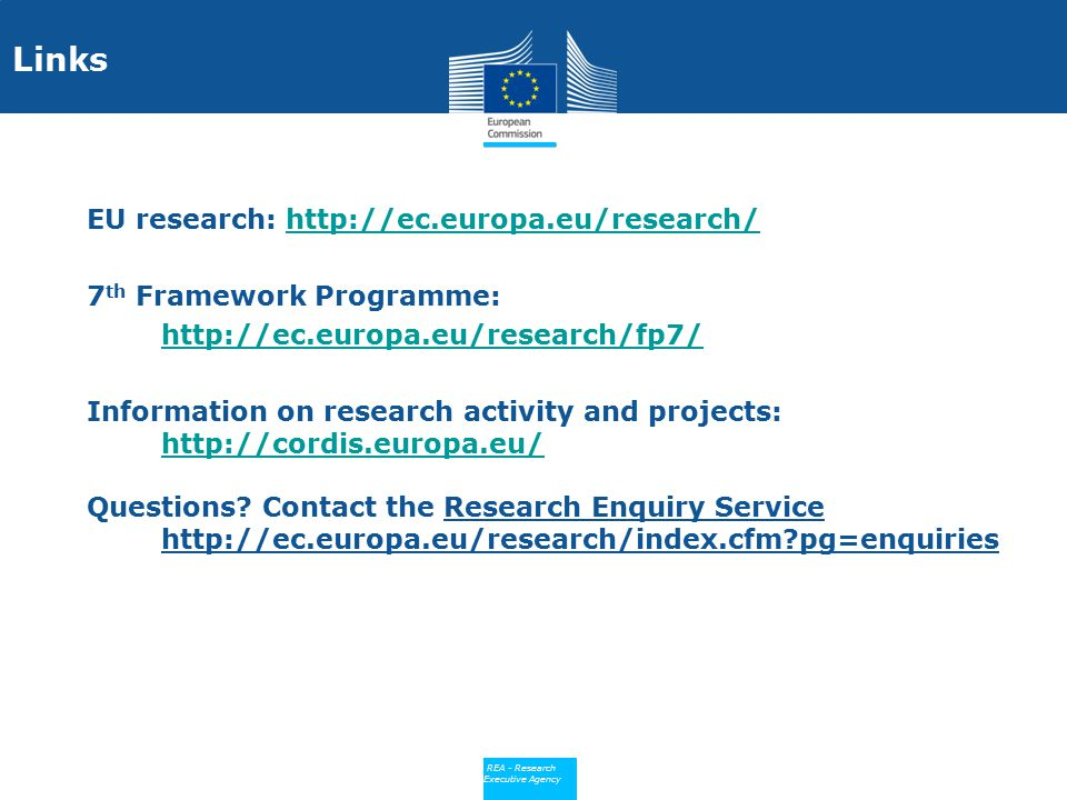 Links EU research: http://ec.europa.eu/research/