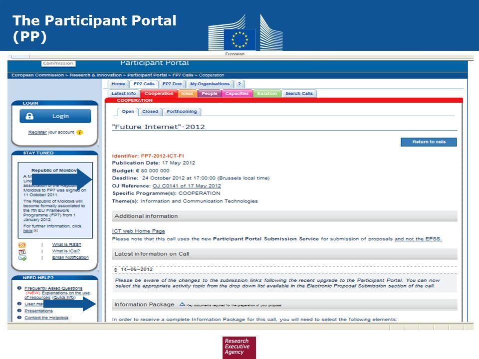 The Participant Portal (PP)