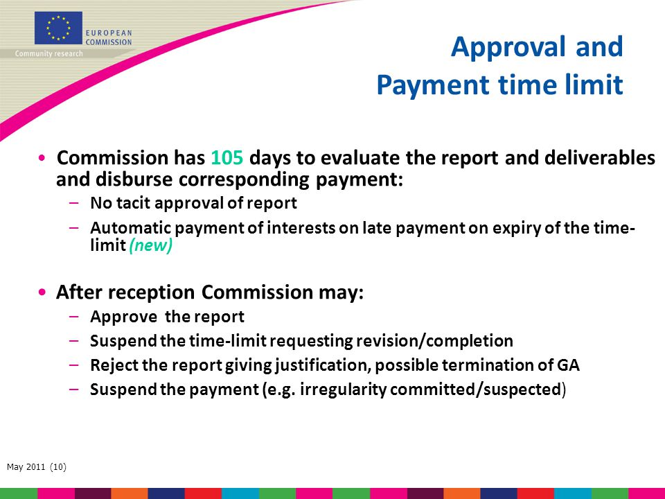 Approval and Payment time limit