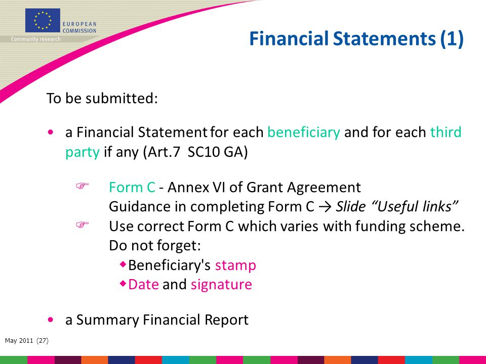 Financial Statements (1)