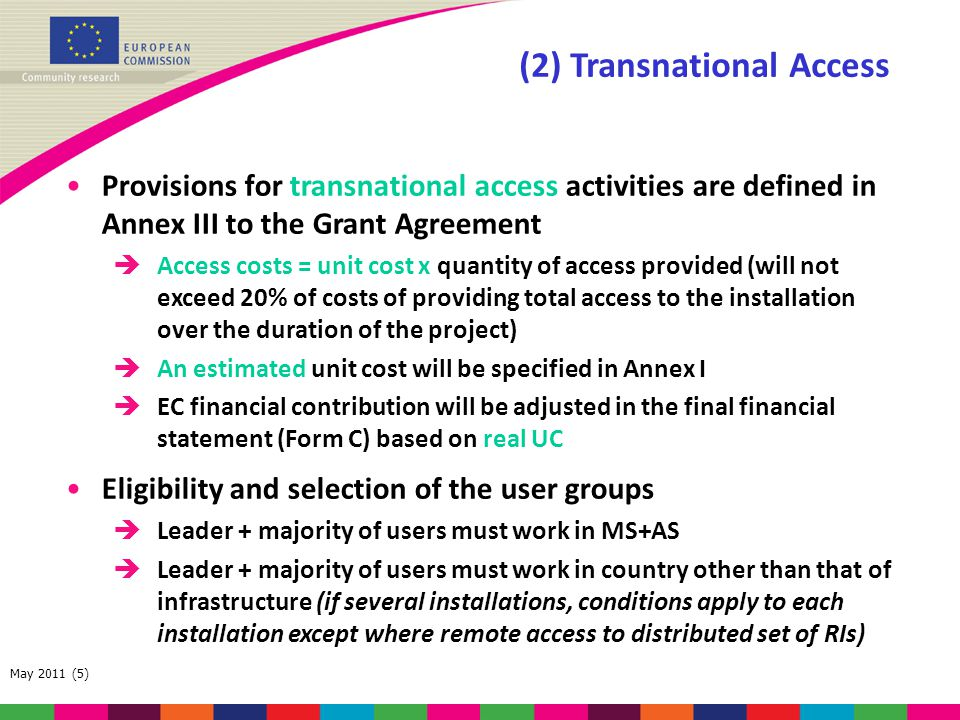 (2) Transnational Access