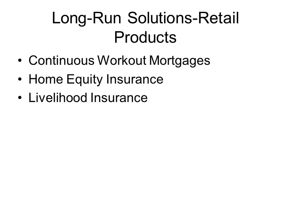 Long-Run Solutions-Retail Products