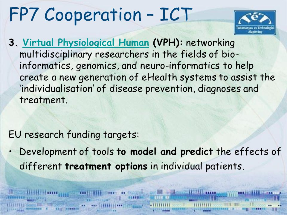 FP7 Cooperation – ICT