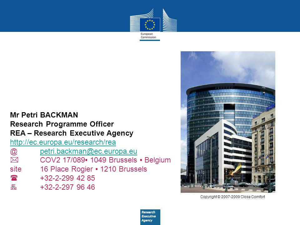 Research Programme Officer REA – Research Executive Agency