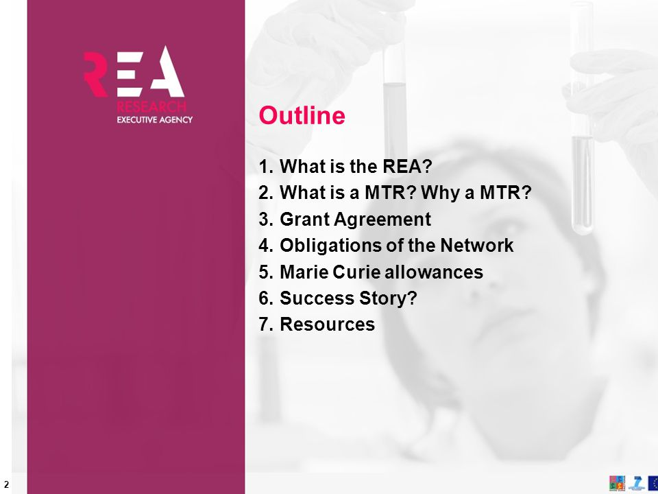 Outline What is the REA What is a MTR Why a MTR Grant Agreement