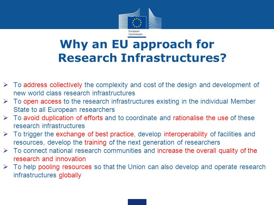 Why an EU approach for Research Infrastructures