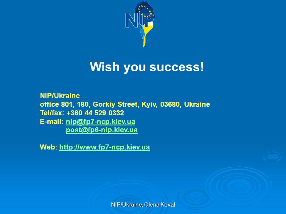 NIP/Ukraine, Olena Koval