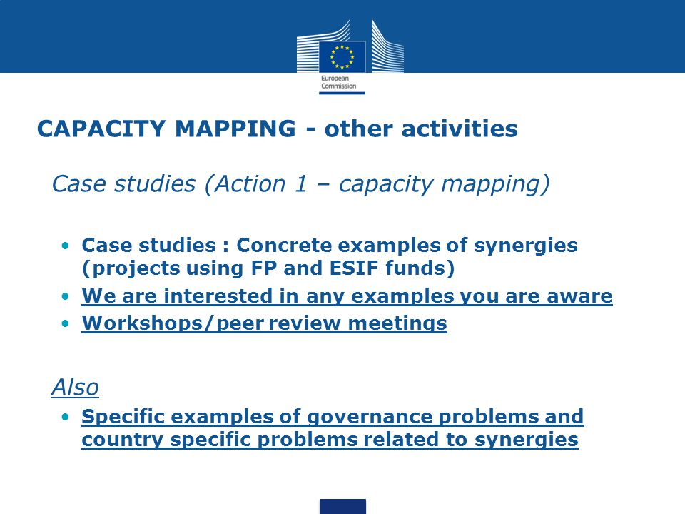 CAPACITY MAPPING - other activities