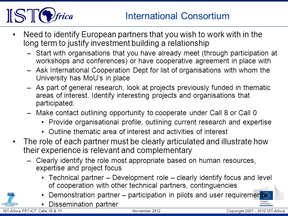 International Consortium
