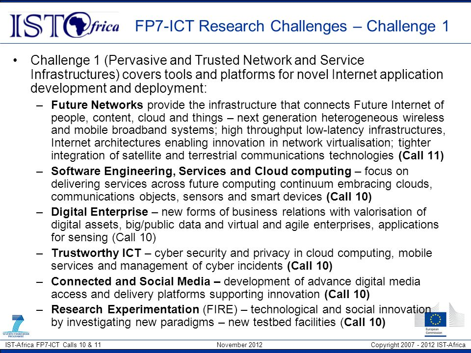 FP7-ICT Research Challenges – Challenge 1