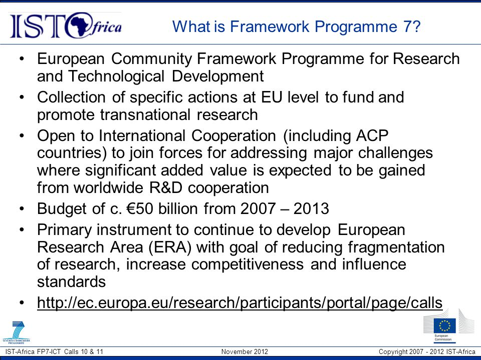 What is Framework Programme 7