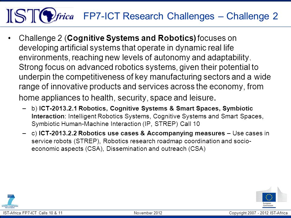 FP7-ICT Research Challenges – Challenge 2
