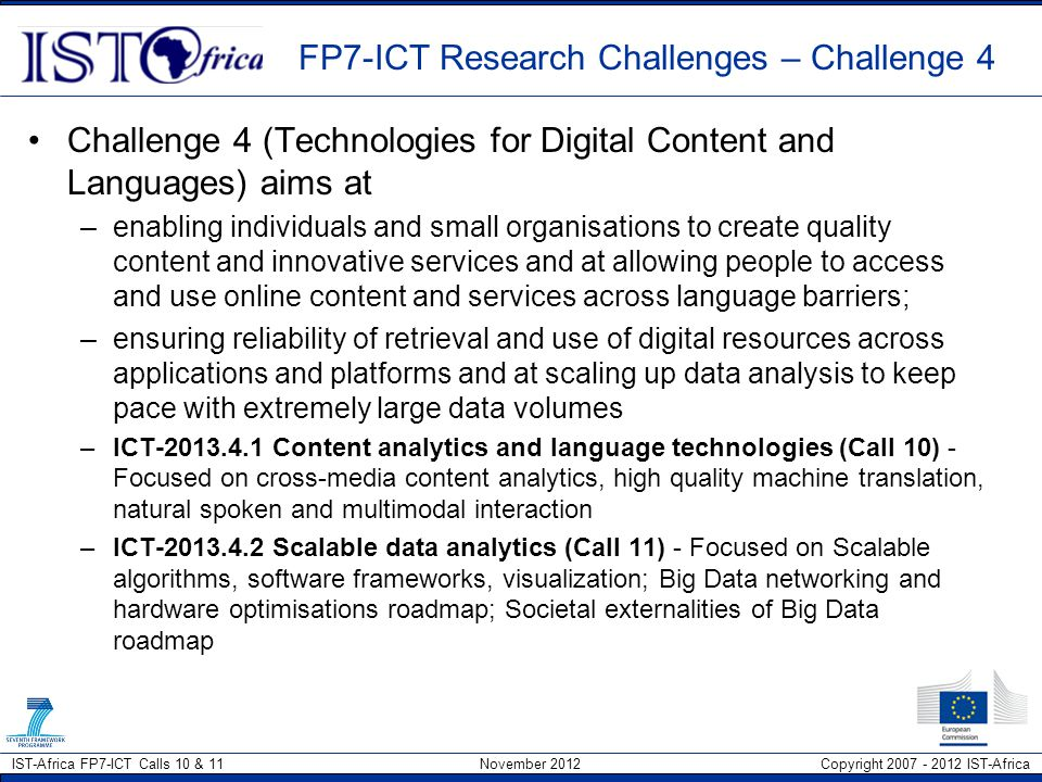 FP7-ICT Research Challenges – Challenge 4