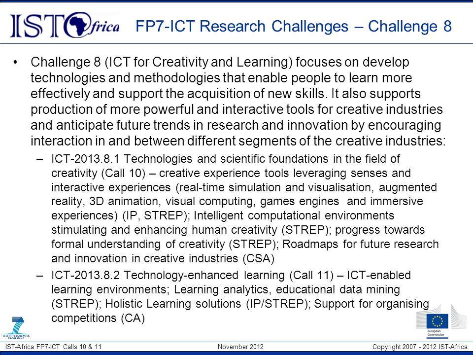 FP7-ICT Research Challenges – Challenge 8
