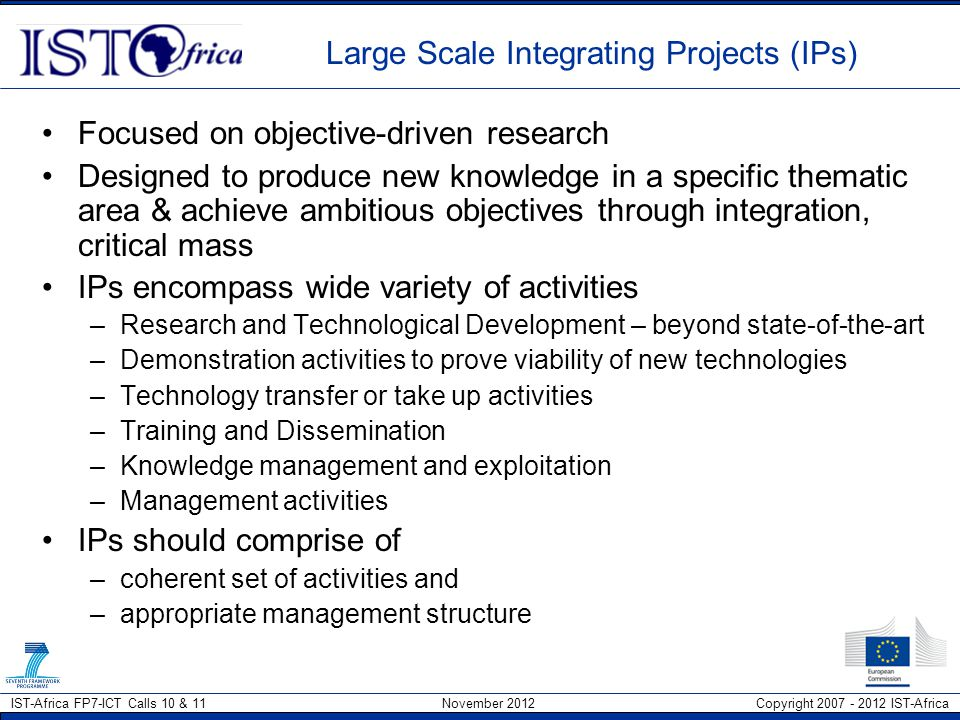 Large Scale Integrating Projects (IPs)
