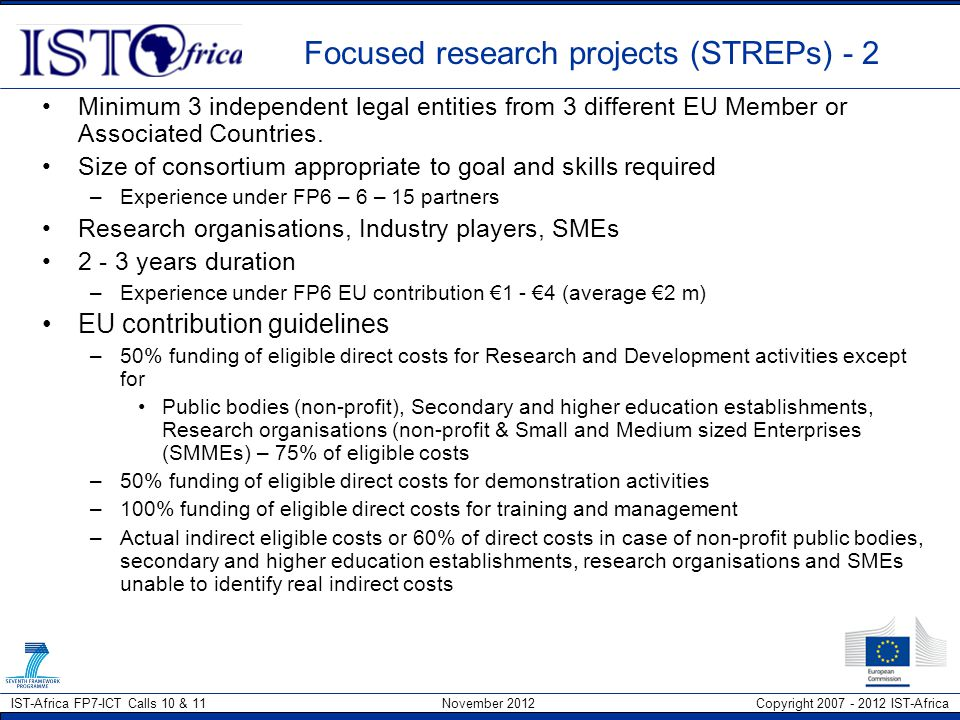 Focused research projects (STREPs) - 2