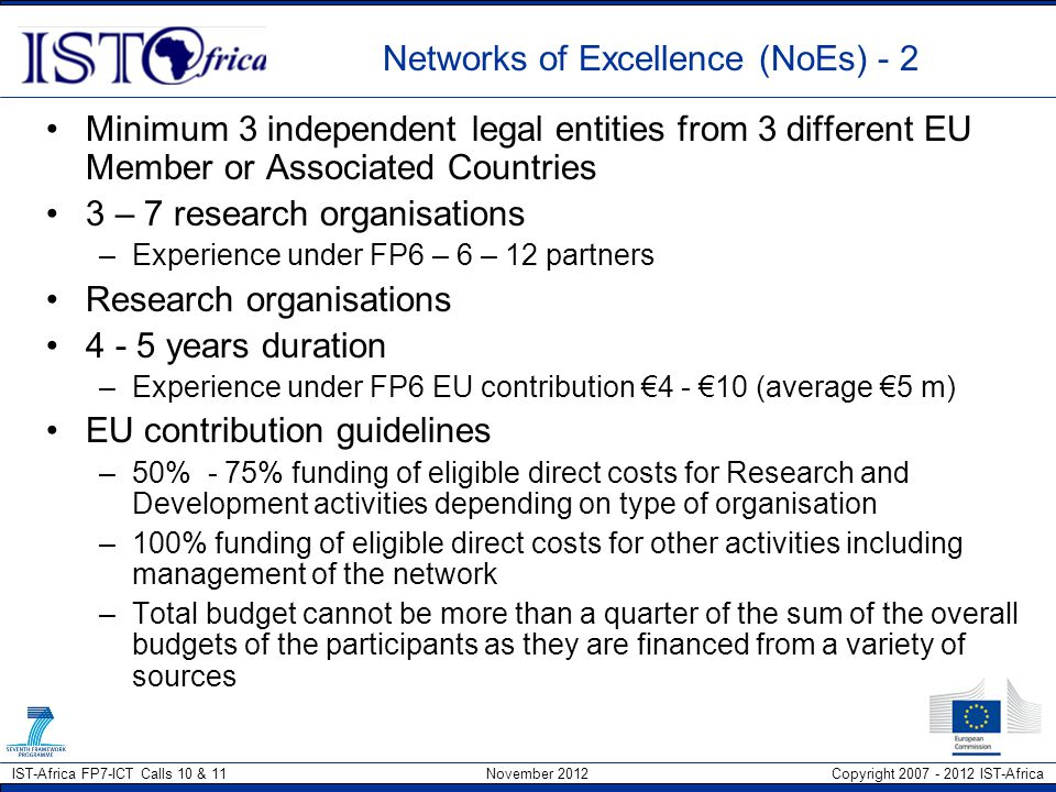 Networks of Excellence (NoEs) - 2