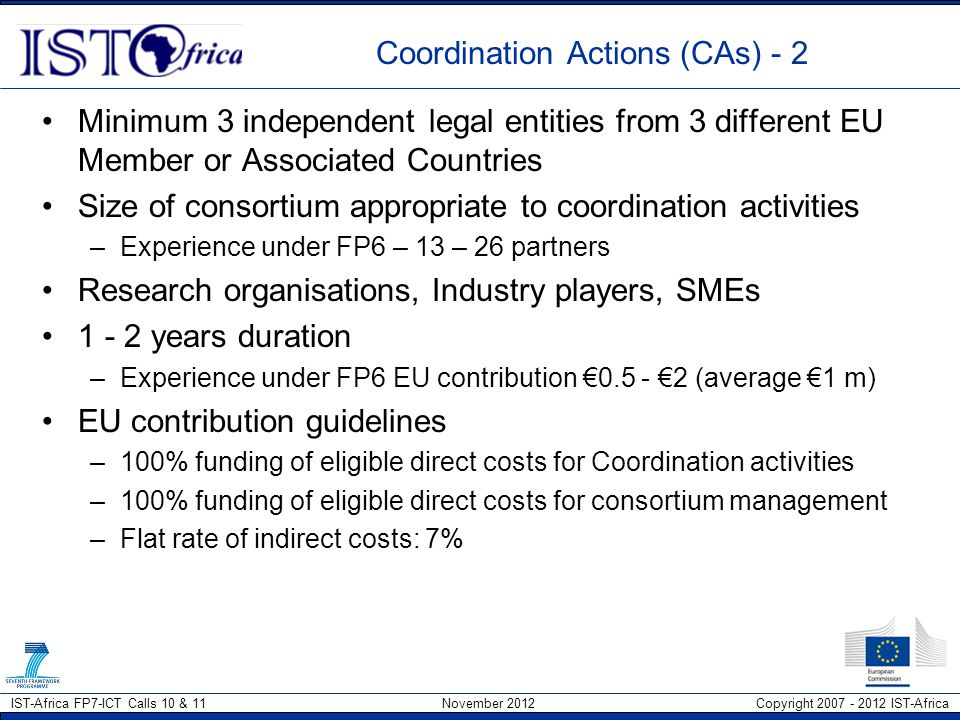 Coordination Actions (CAs) - 2