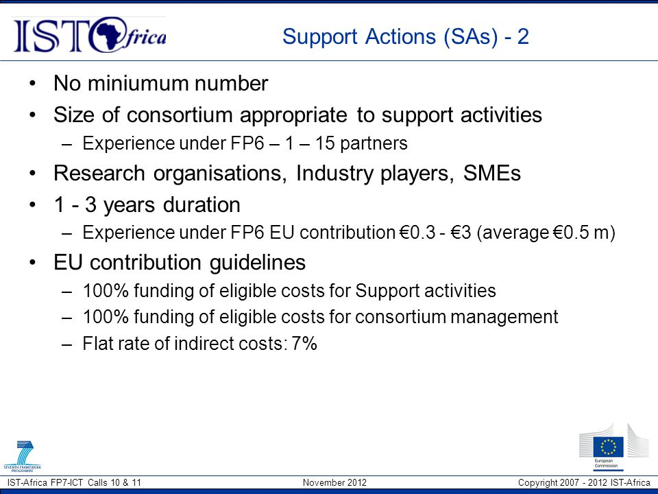 Support Actions (SAs) - 2