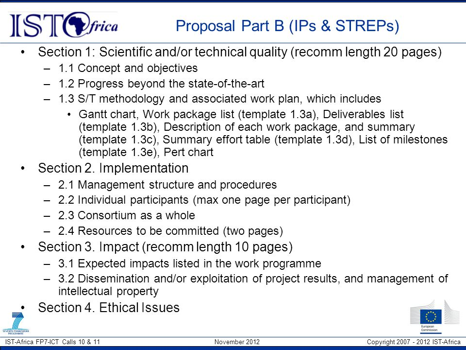 Proposal Part B (IPs & STREPs)