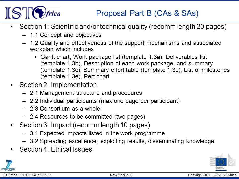 Proposal Part B (CAs & SAs)