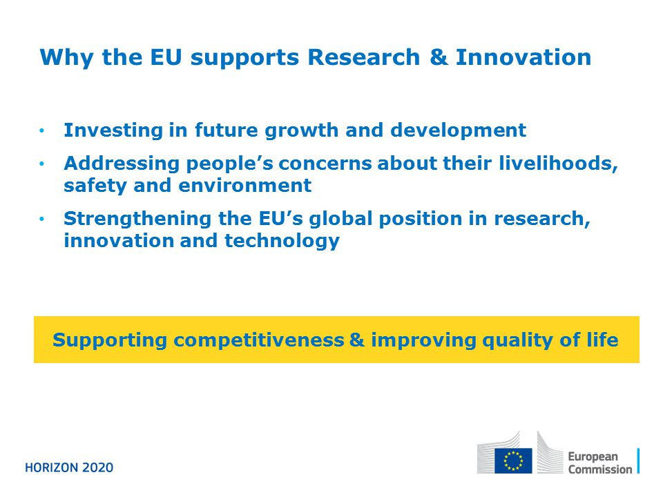 Why the EU supports Research & Innovation