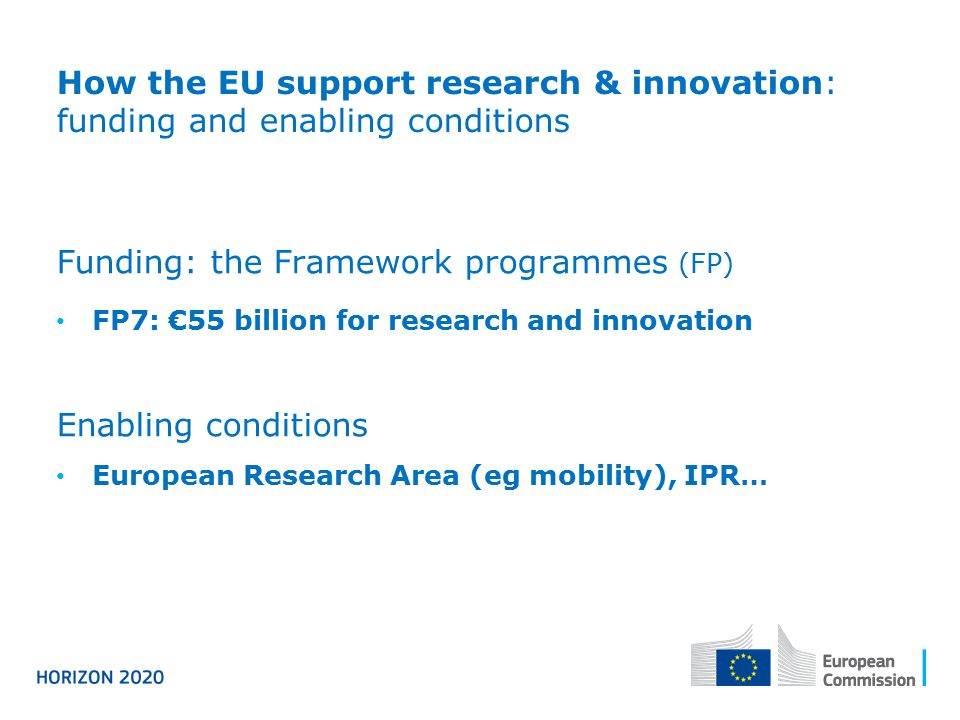 Funding: the Framework programmes (FP)
