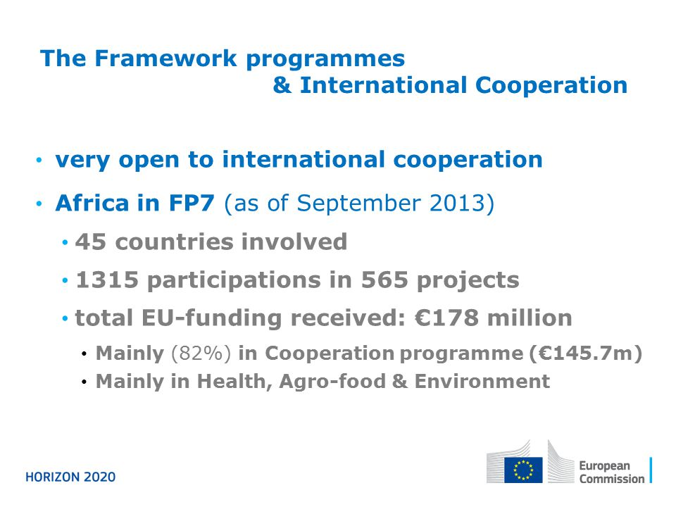 The Framework programmes & International Cooperation