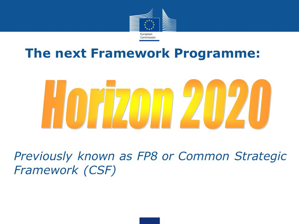 The next Framework Programme: