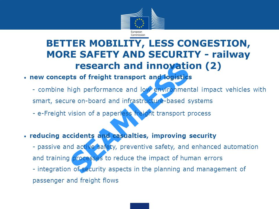BETTER MOBILITY, LESS CONGESTION, MORE SAFETY AND SECURITY - railway research and innovation (2)