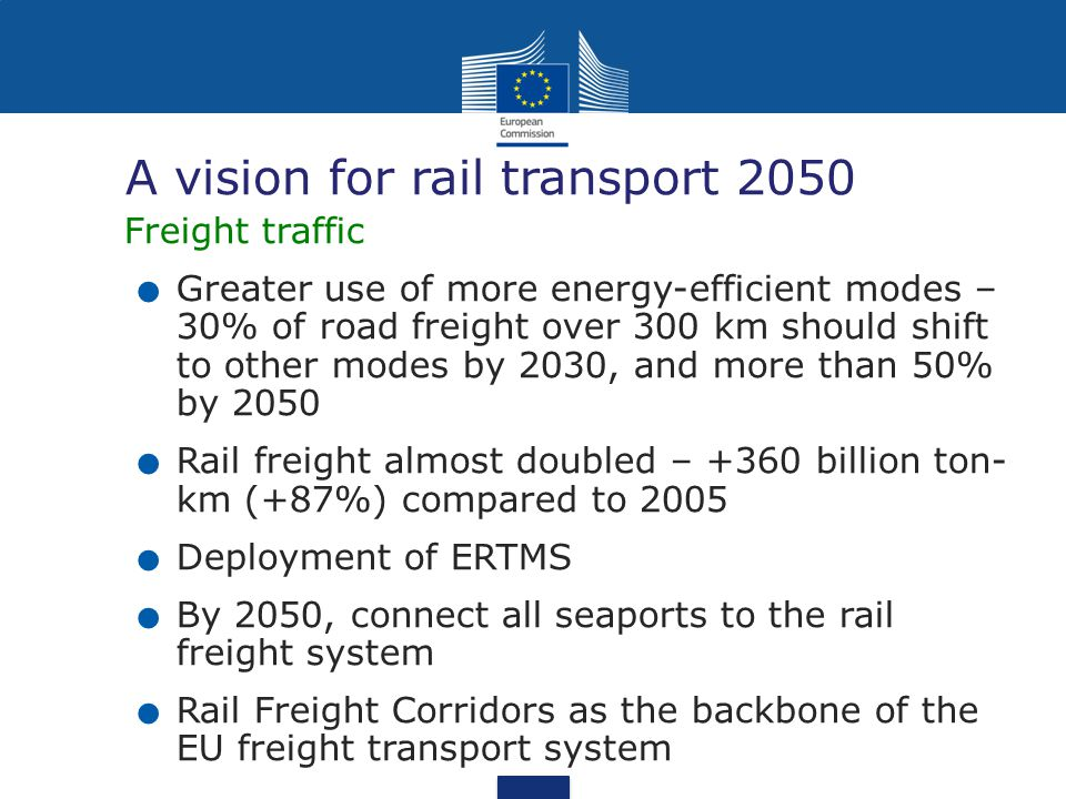 A vision for rail transport 2050