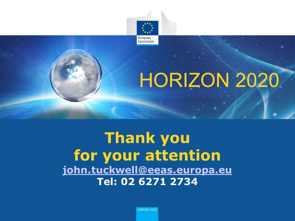 Thank you for your attention john. tuckwell@eeas. europa