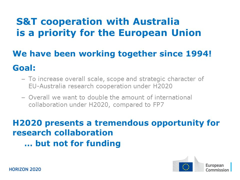 S&T cooperation with Australia is a priority for the European Union