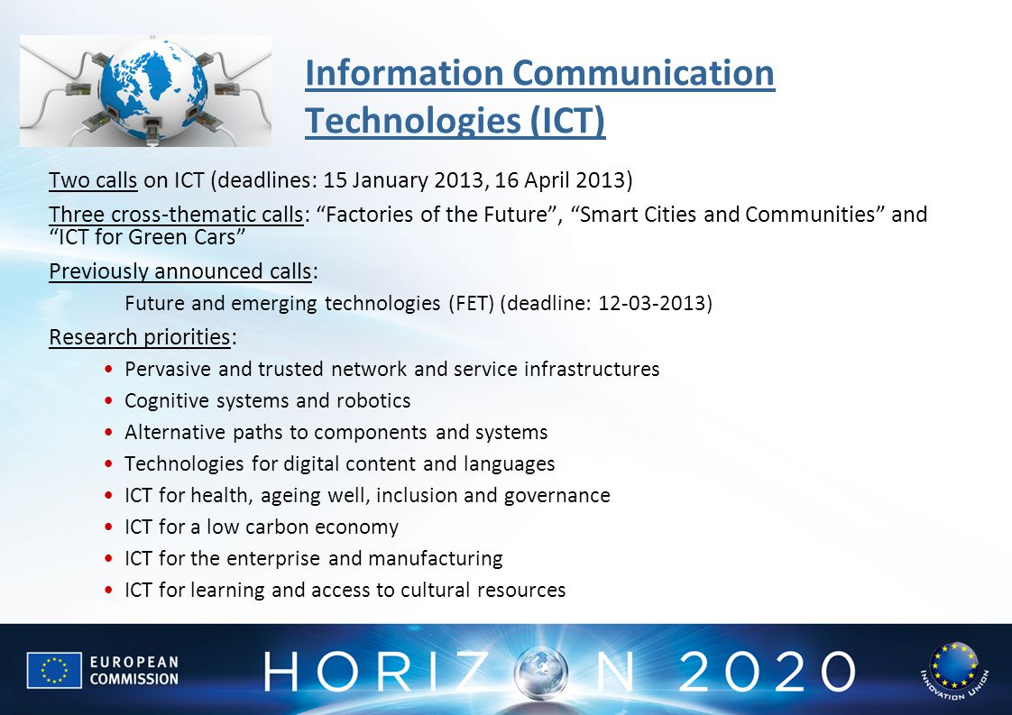 Information Communication Technologies (ICT)