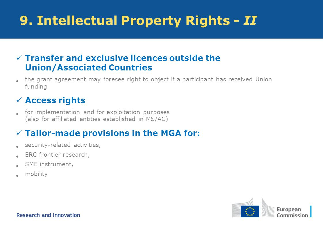 9. Intellectual Property Rights - II