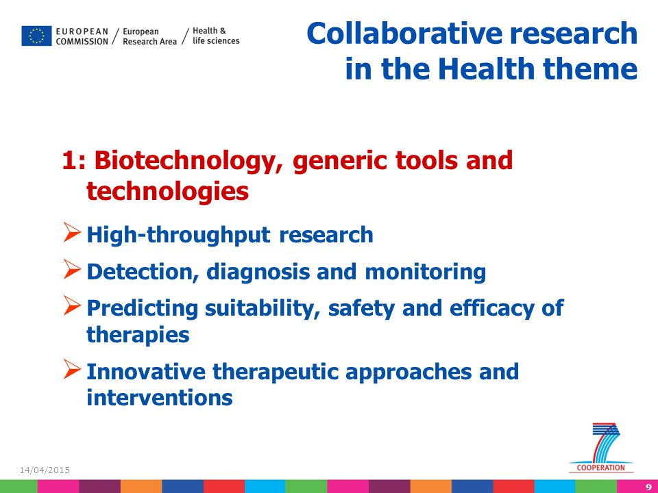Collaborative research in the Health theme