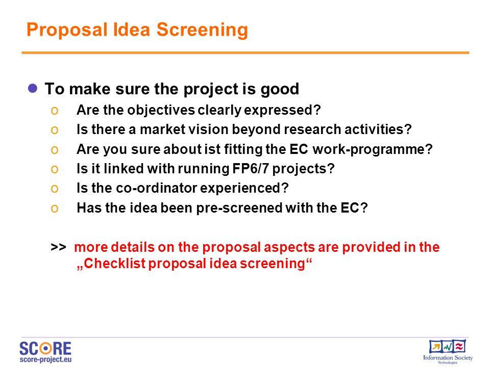 Proposal Idea Screening