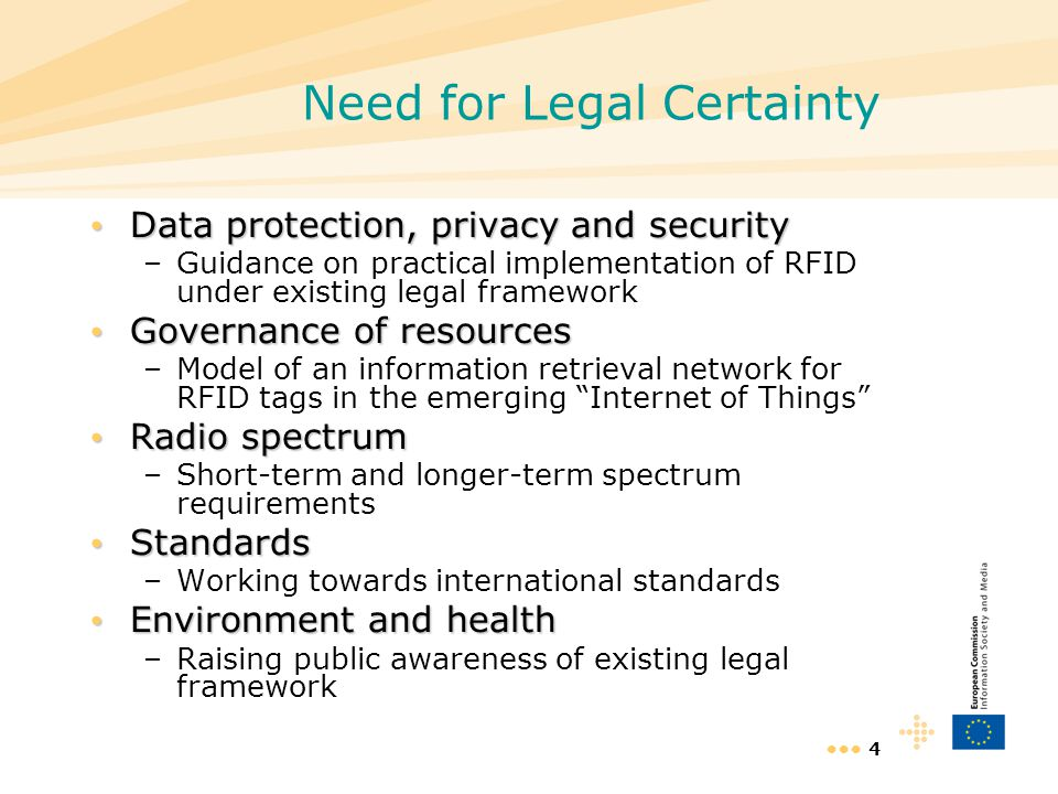 Need for Legal Certainty