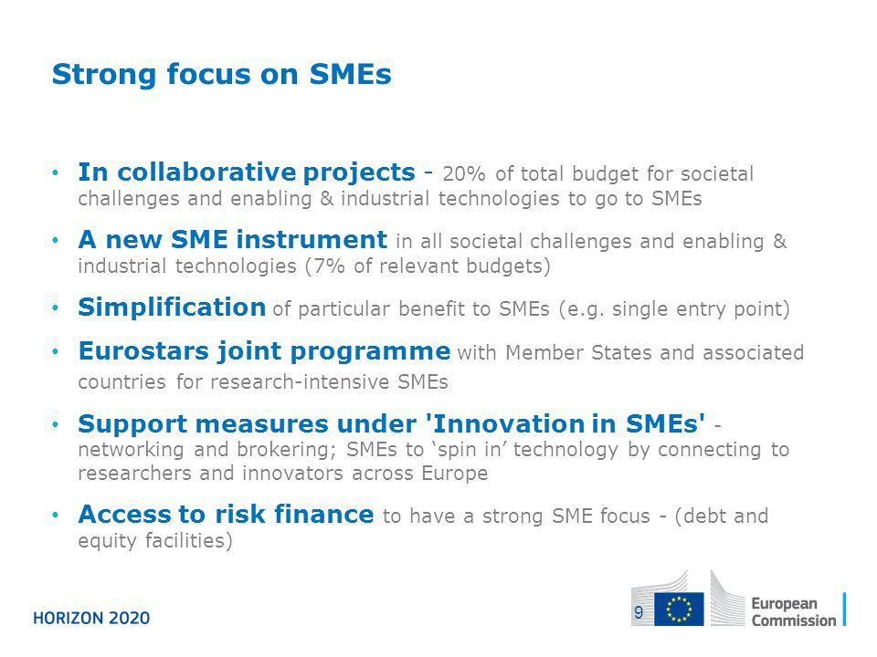 04/12/2013 Strong focus on SMEs.
