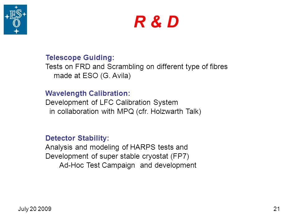R & D Telescope Guiding: