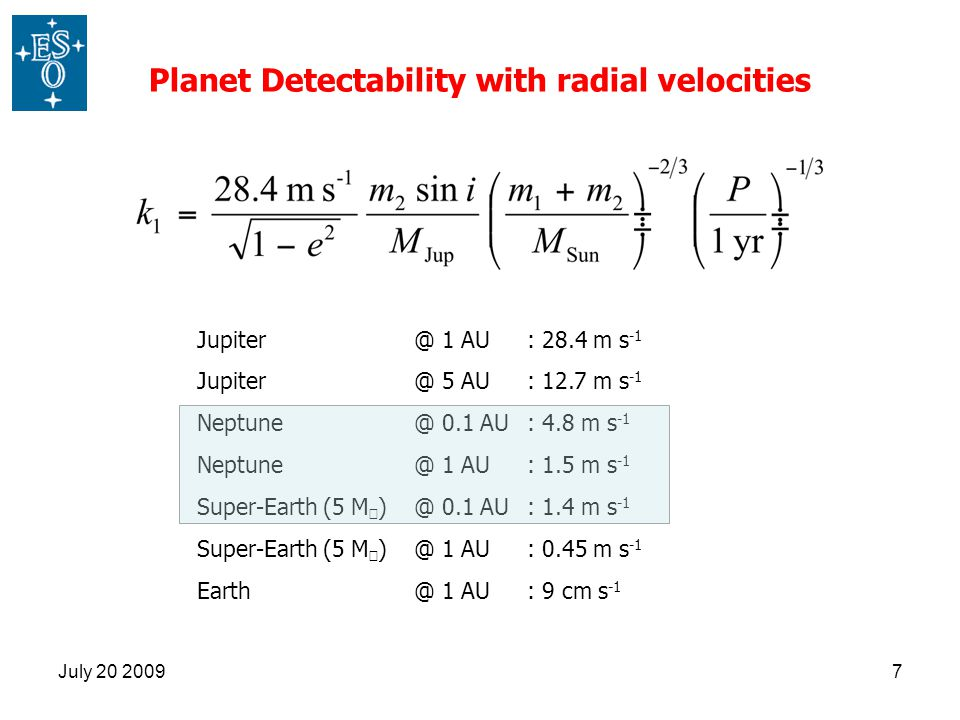 Planet Detectability with radial velocities