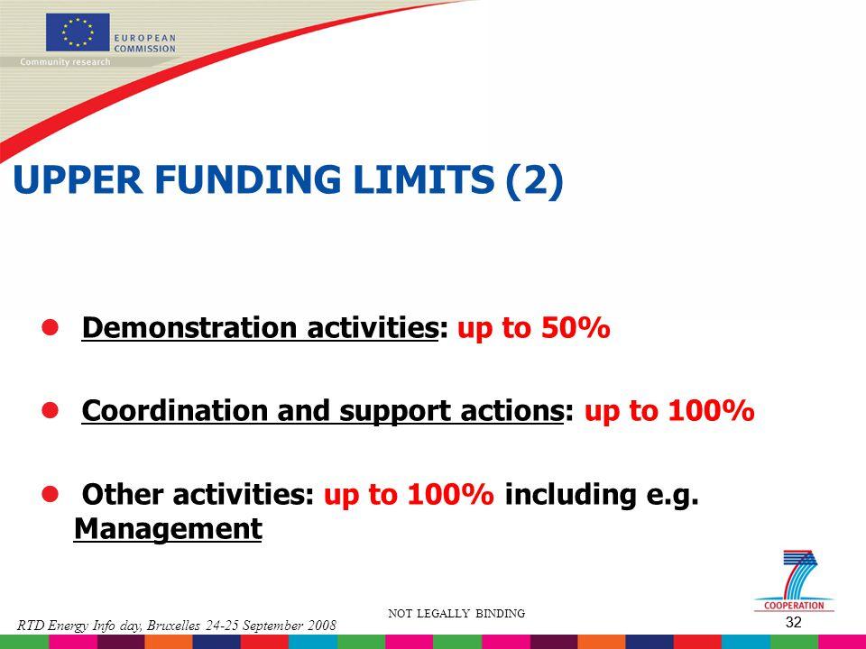 UPPER FUNDING LIMITS (2)