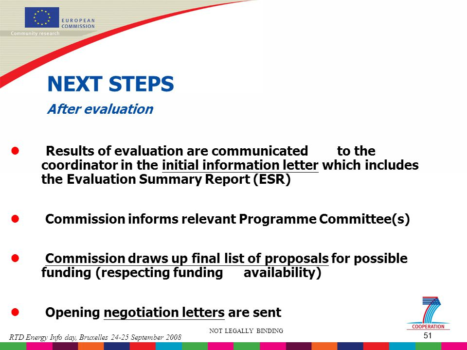 NEXT STEPS After evaluation