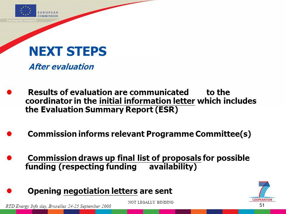 NEXT STEPS After evaluation
