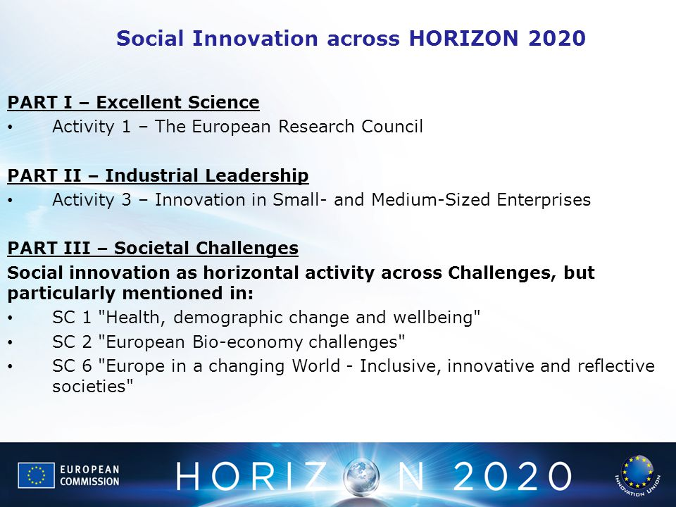 Social Innovation across HORIZON 2020