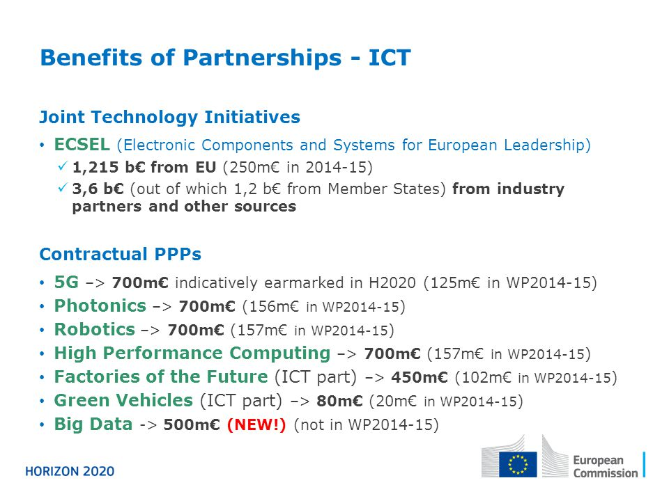 Benefits of Partnerships - ICT